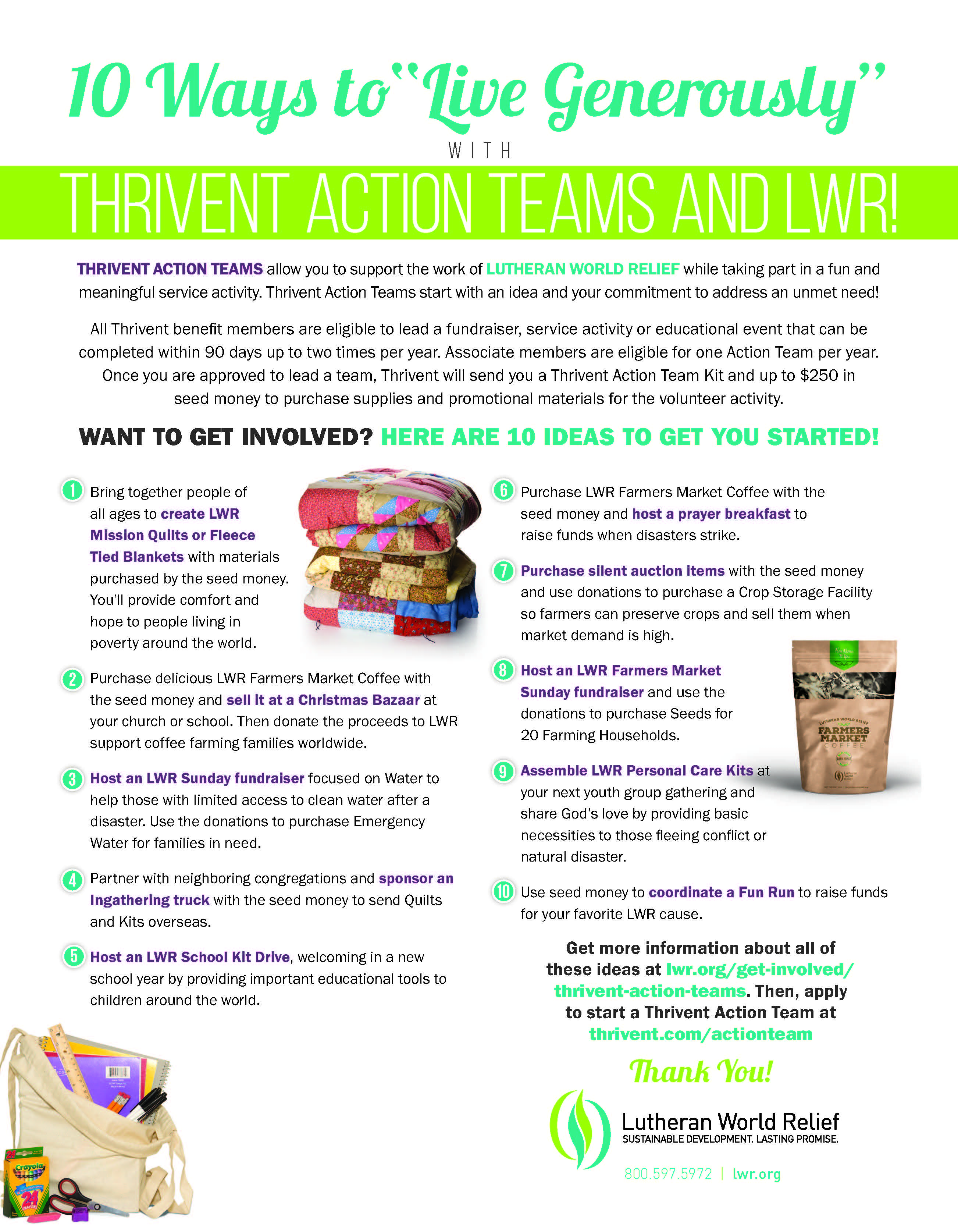 Thrivent Action Team Flyer