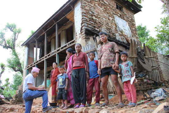 Mr. Anand lives in Chakratirtha Village. Two families with more than 10 members lived in this house for a long time.