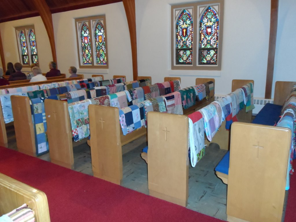 Quilts at Bethlehem Lutheran Church in Manly, IA, made using Thrivent Action Team seed money. (Credit: Suzzanne Rye)