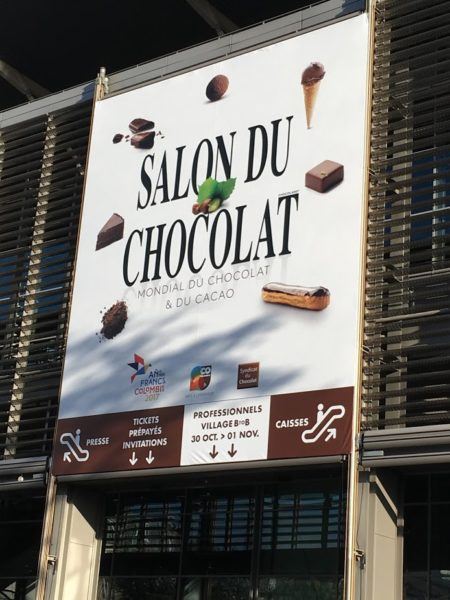 Sign for the entrance of Salon du Chocolat