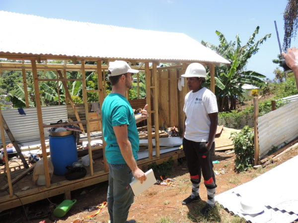 LWR staff visit site of rebuilding on the island of Dominica.