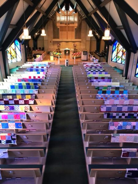 Overhead view of St. David's sanctuary