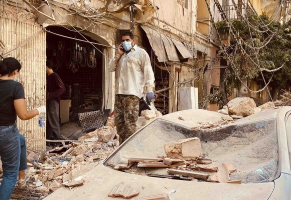 After surviving the Beirut explosion, LWR colleague relies on neighbors near and far for help
