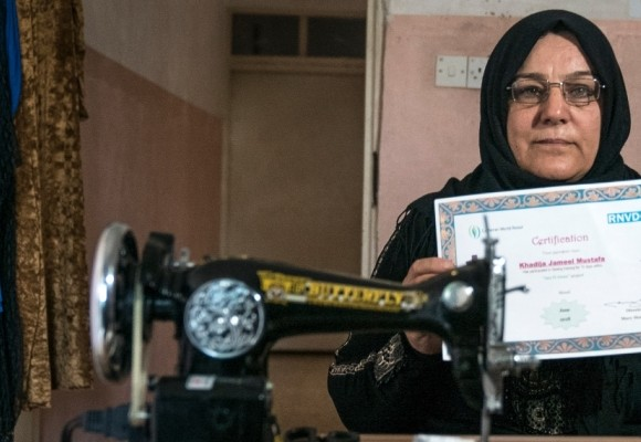 In post-war Iraq, a sewing machine brings new hope, opportunity