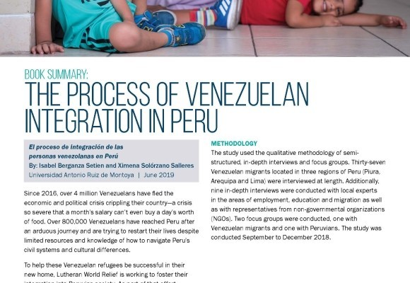The Process of Venezuelan Integration in Peru