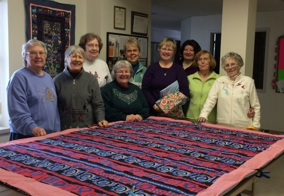 These quilters saw their work in action - halfway around the world!