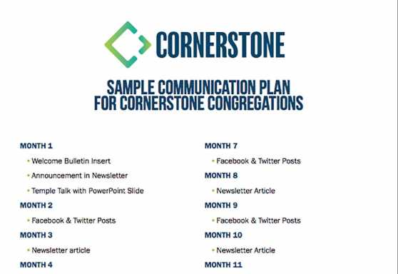 Cornerstone Sample Communications Plan