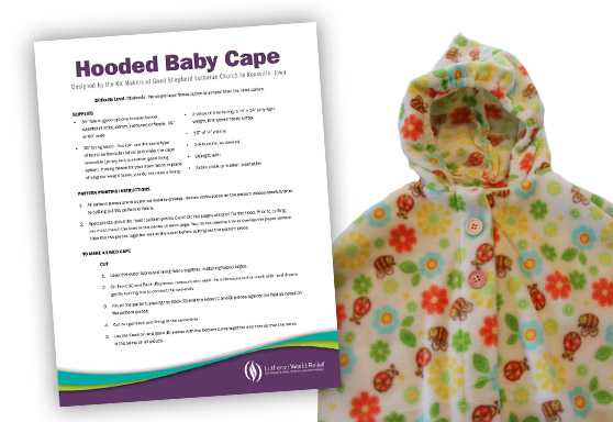 Hooded Baby Cape Pattern