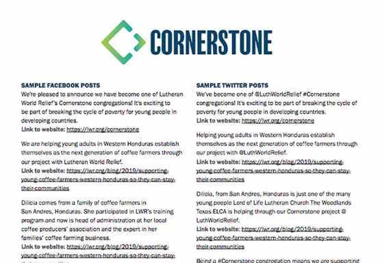 Cornerstone Sample Social Media Posts