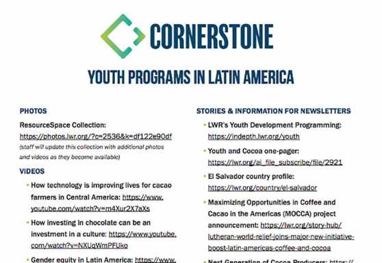 Cornerstone Youth Programs in Latin America