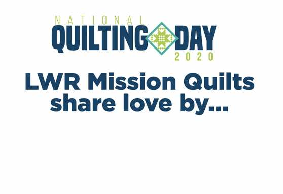 National Quilting Day 2020 Sign 2