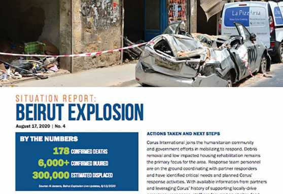Beirut Explosion Situation Report No. 4