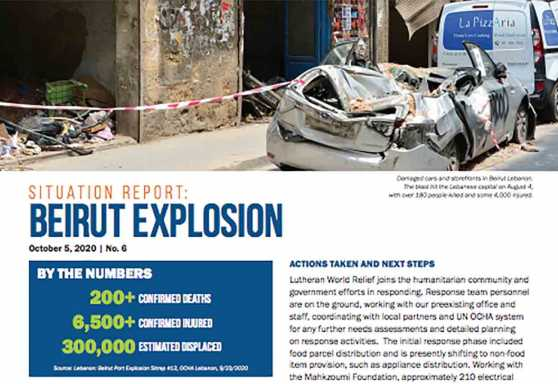 Beirut Explosion Situation Report No. 6
