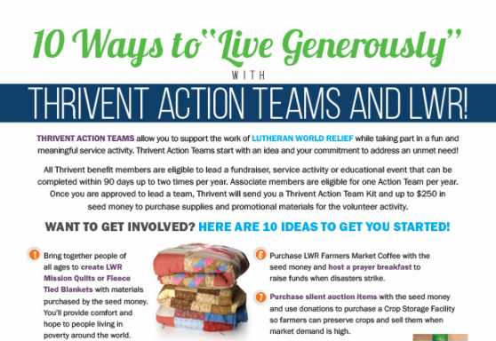 Thrivent Action Teams Flyer