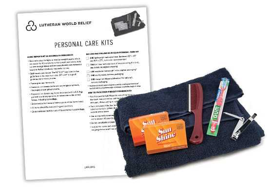 Personal Care Kit Assembly Instructions