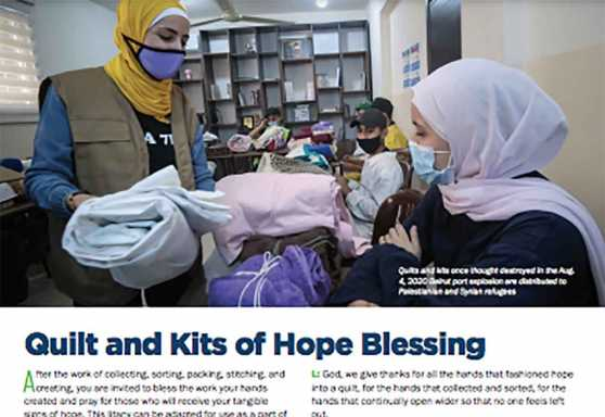 Quilt and Kits of Hope Blessing
