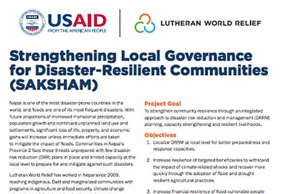 Strengthening Local Governance for Disaster-Resilient Communities (SAKSHAM)