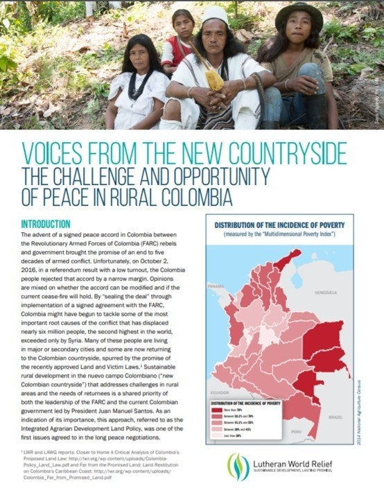 Download the LWR Report, Voices from the New Countryside.