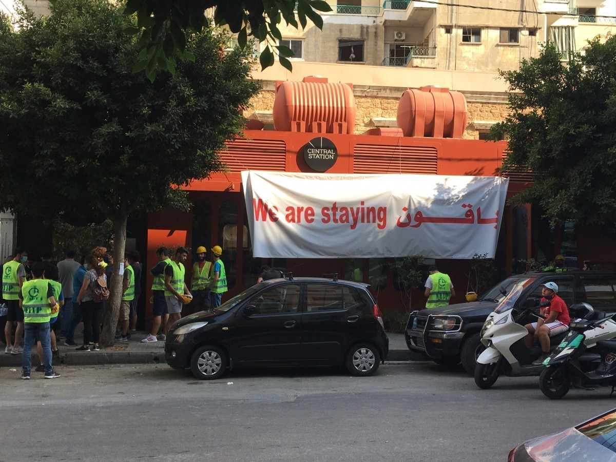 "Banners proclaiming ""We are staying"" are starting to appear."
