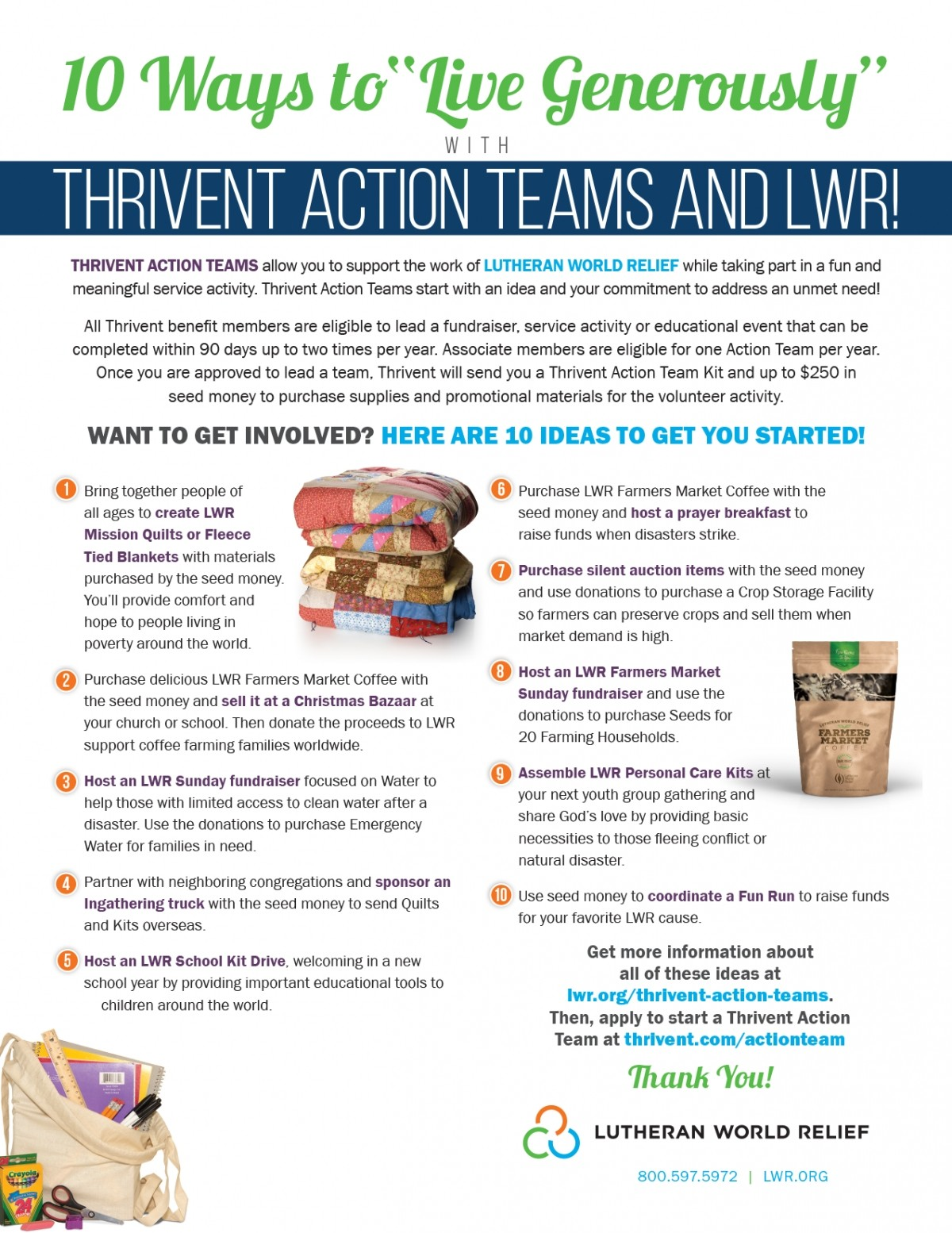 Thrivent Action Team Flyer 2020