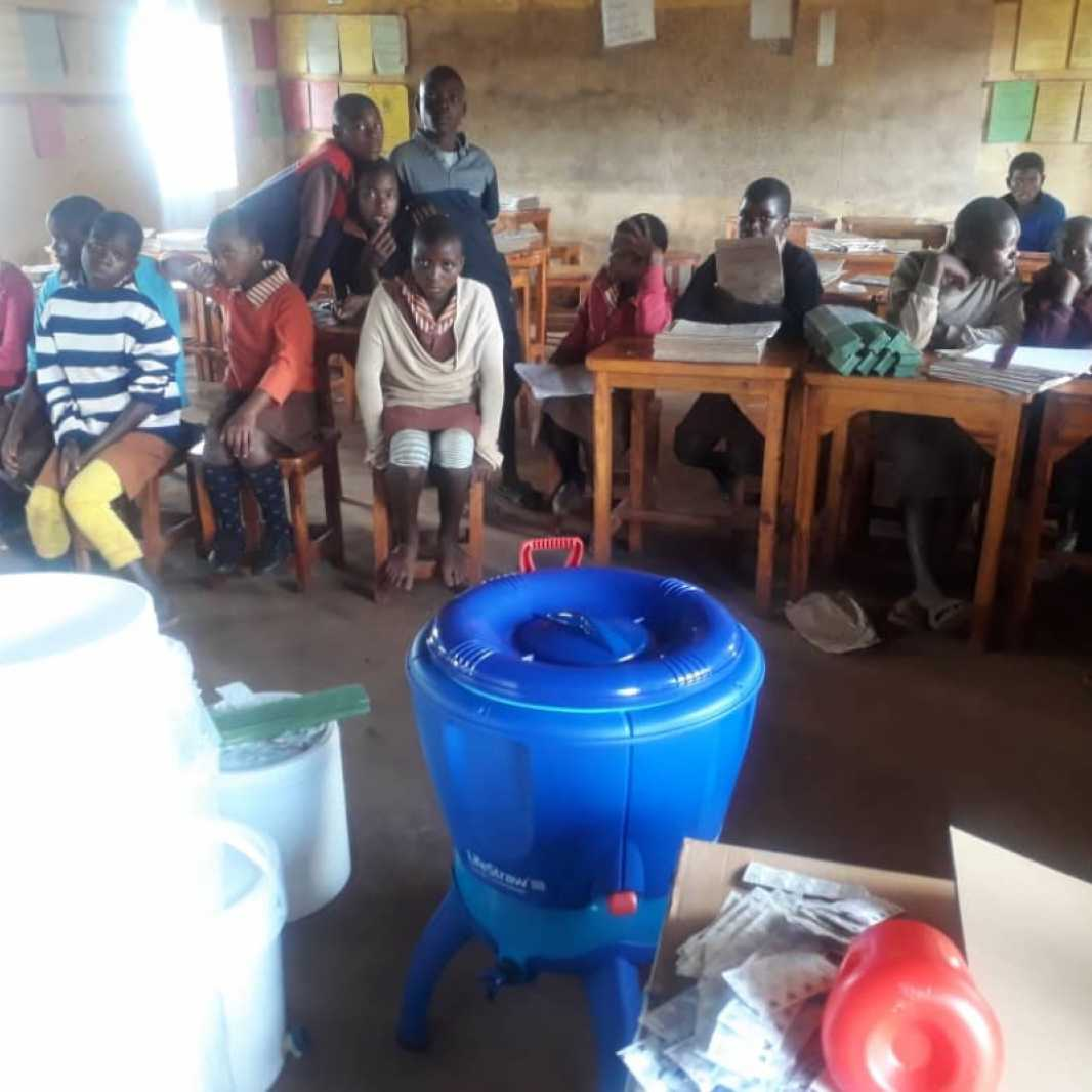 In Zimbabwe, your support provided water filters in 8 schools so that children have access to safe water. (Photo courtesy of Smile for Africa)