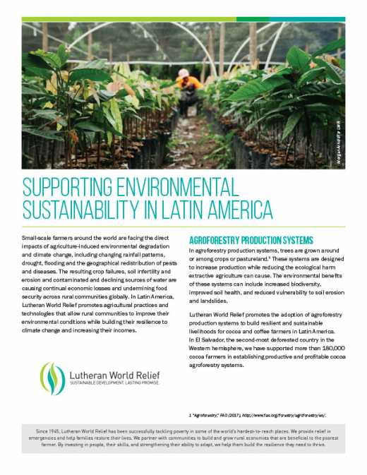 Supporting Environmental Sustainability in Latin America