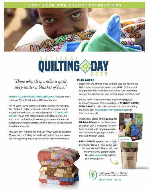 Host Your Own - National Quilting Day 2020