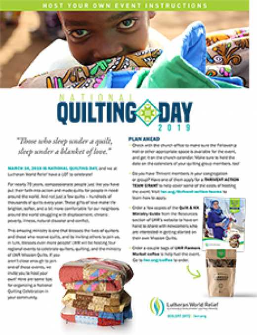 National Quilting Day 2019 | Lutheran World Relief