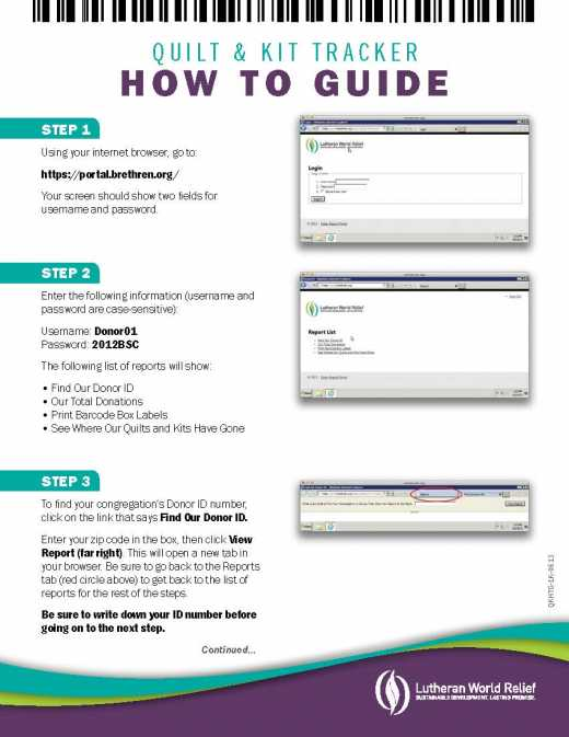 Tracker Instructions