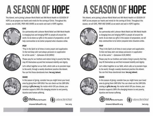Season of Hope Advent Bulletin Insert