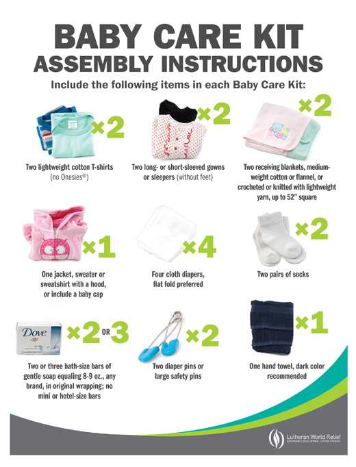 Baby Care Kit Assembly Signs